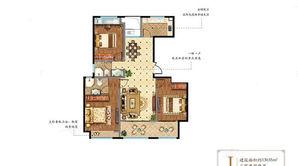 奥体壹號 3室2厅2卫 130.55平方米 毛坯