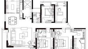 兴邦·中央公园 5室2厅3卫 242平方米 毛坯