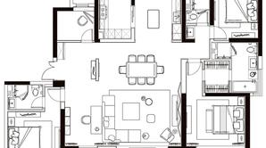 兴邦·中央公园 4室2厅3卫 211平方米 毛坯