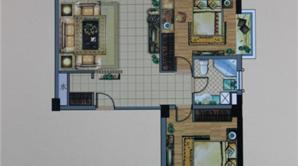 杰仕豪庭 2室2厅1卫 104平方米 毛坯
