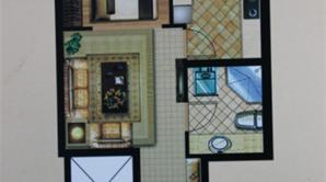 杰仕豪庭 1室2厅1卫 44平方米 毛坯