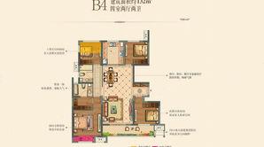 中海·万锦园 4室2厅2卫 132平方米 毛坯