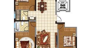奥体·玫瑰园 3室2厅2卫 139平方米 毛坯