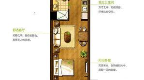 华润橡树湾 1室1厅1卫 44平方米 毛坯
