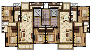 香苑东园 3室2厅1卫 154平方米 毛坯