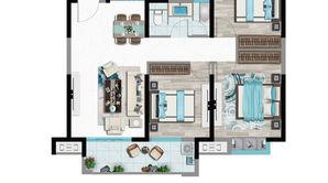 中庚·香海新时代 3室2厅1卫 98平方米 毛坯