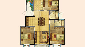 东进华都 3室2厅2卫 119平方米 毛坯