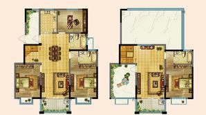 东进华都 3室2厅2卫 183平方米 毛坯