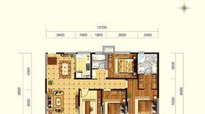 锦尚花城 4室2厅2卫 140平方米 毛坯