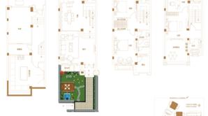 明新半岛花园 4室2厅4卫 282平方米 毛坯