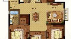港湾明珠南苑 4室2厅2卫 135平方米 毛坯
