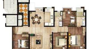 碧桂园凤凰城 4室2厅2卫 143平方米 精装