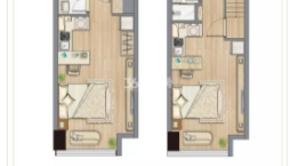 正荣中心天寓 1室1厅1卫 45平方米 毛坯