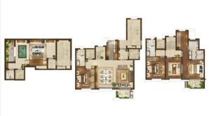 新城璞樾钟山 5室3厅4卫 249平方米 毛坯