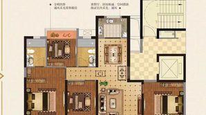 金辉优步水岸 4室2厅2卫 133平方米 毛坯