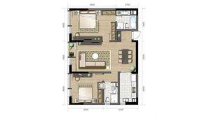 金陵凤栖园 2室2厅2卫 131平方米 毛坯
