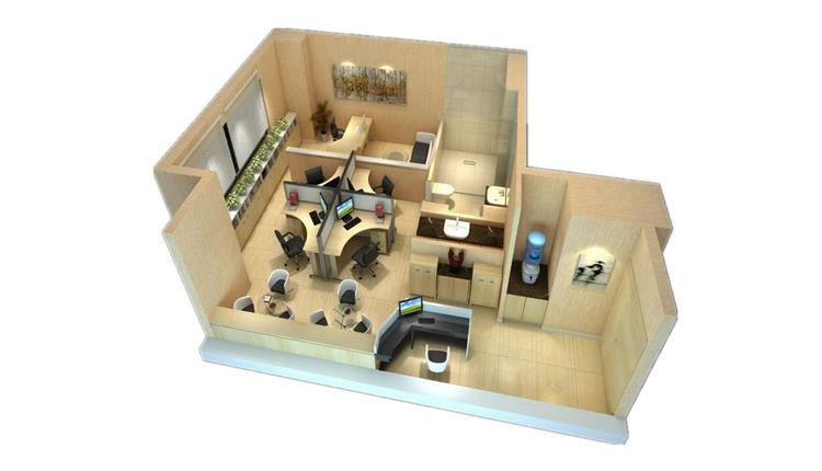 A1户型(74平米)一室一厅一卫