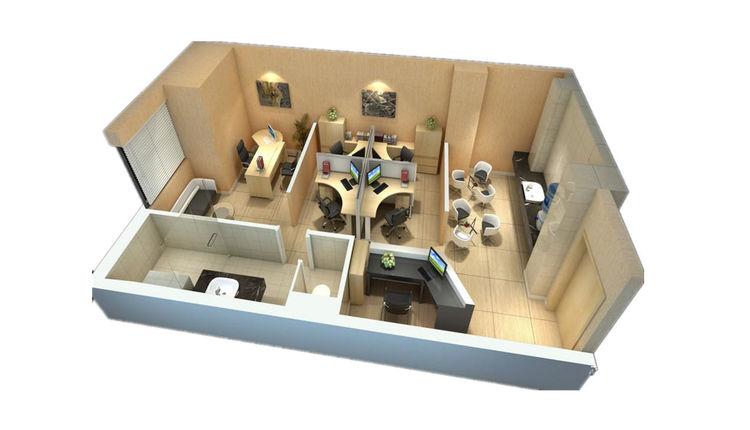 A2户型(65平米)一室一厅一卫