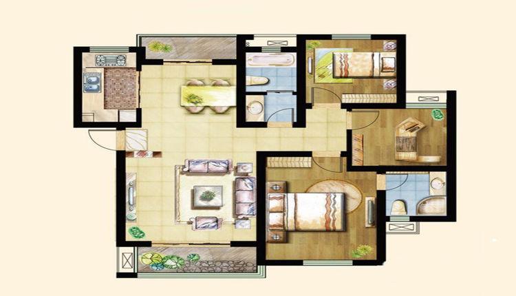 108.5三室两厅两卫