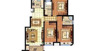 明发香山郡 3室2厅1卫 114平方米 毛坯